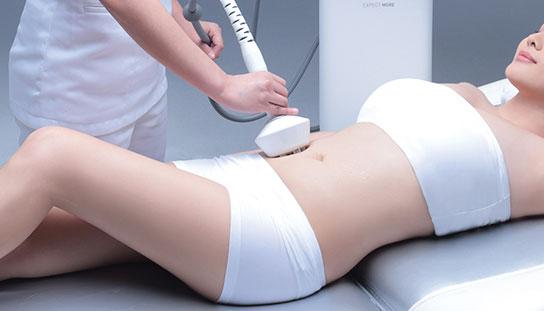 Undergoing endermologie cellulite treatment
