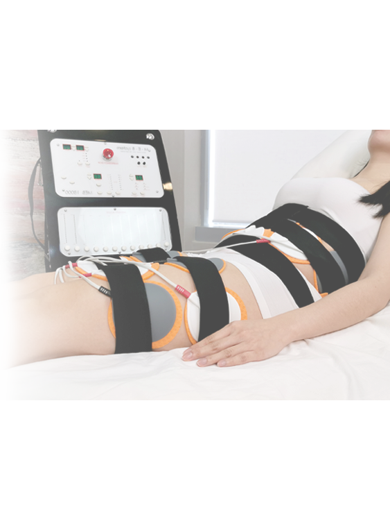 Woman undergoes non invasive fat removal procedures