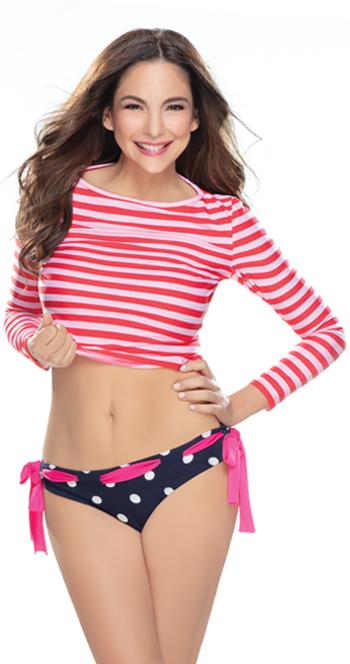 Positive woman who got a spot fat reduction