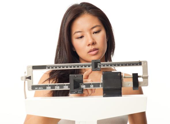 girl undergoing weight loss
